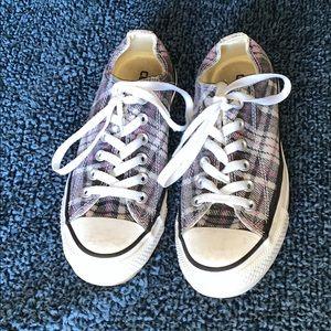 Converse Plaid Shoes